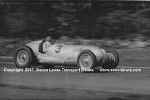 Mercedes W125 Manfred Von Brausitsch at speed 1937 Donington GP (C)
